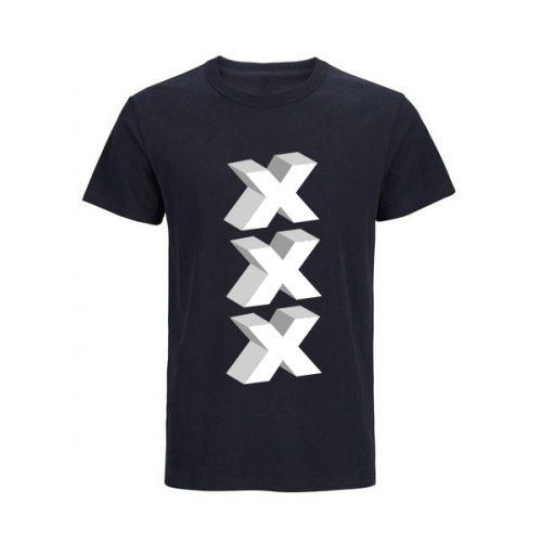 Amsterdam T-shirt zwart 3D-XXX